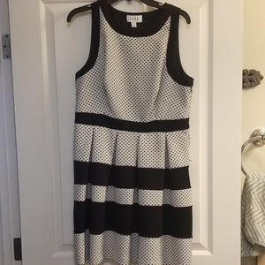 Black and white 50's style dress